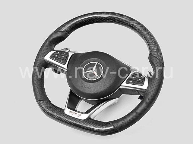 Спортивный руль AMG 6.3 Mercedes C класс W205 с карбоном