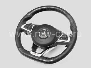 Спортивный руль AMG 6.3 Mercedes GLC с карбоном