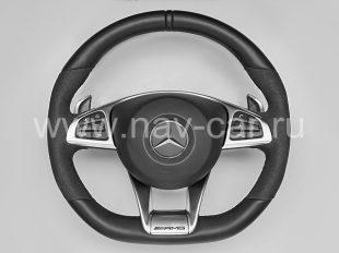 Спортивный руль AMG 6.3 Mercedes GL класс X166 с алькантарой