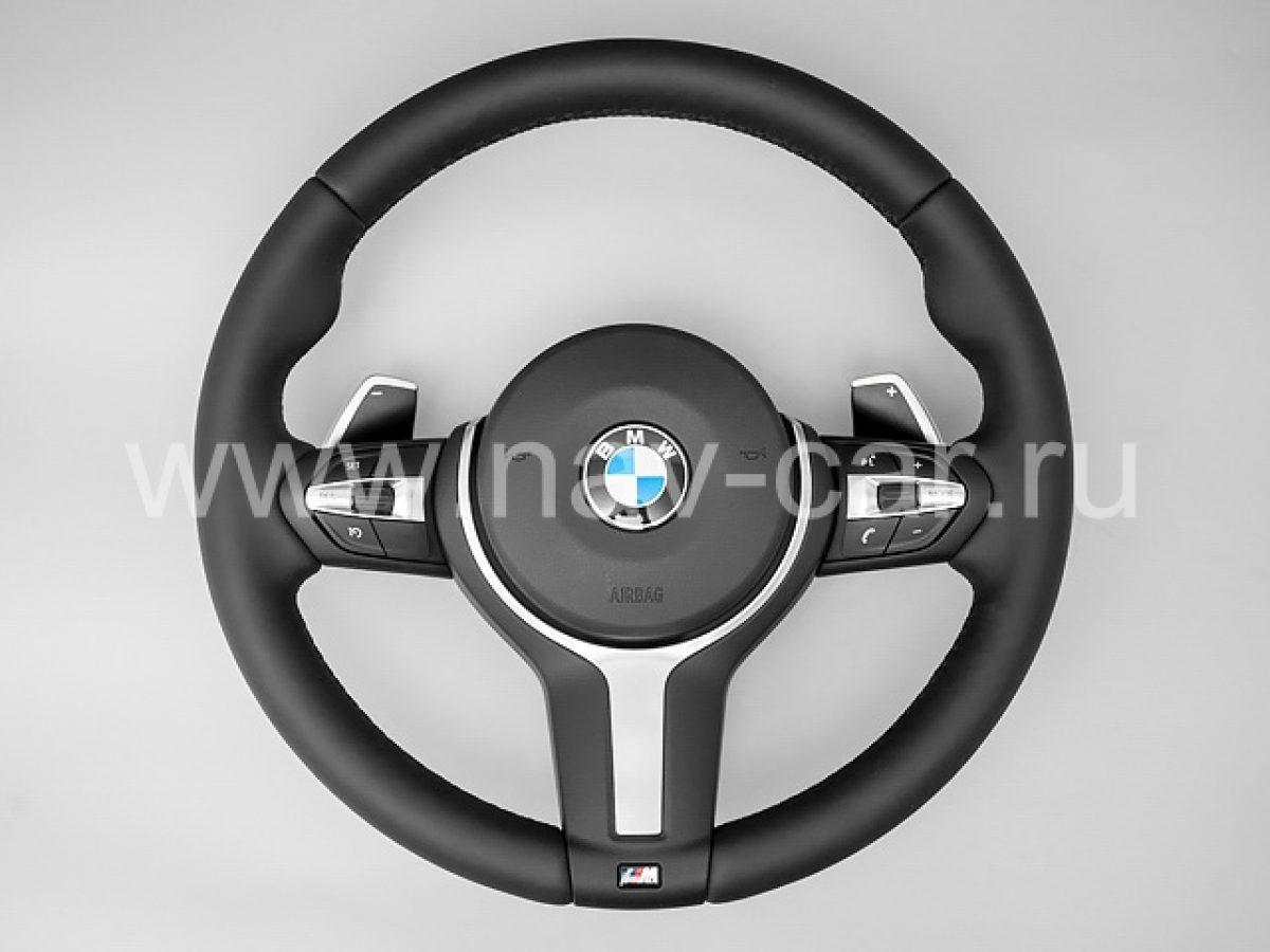 Спортивный М руль BMW 3 серия F30 с лепестками