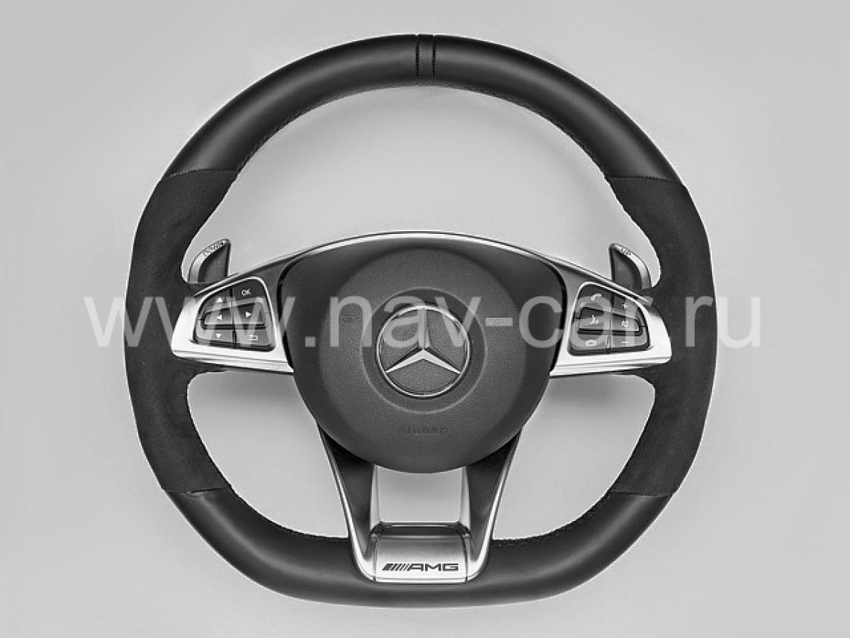 Спортивный руль AMG 6.3 Mercedes GLE с алькантарой