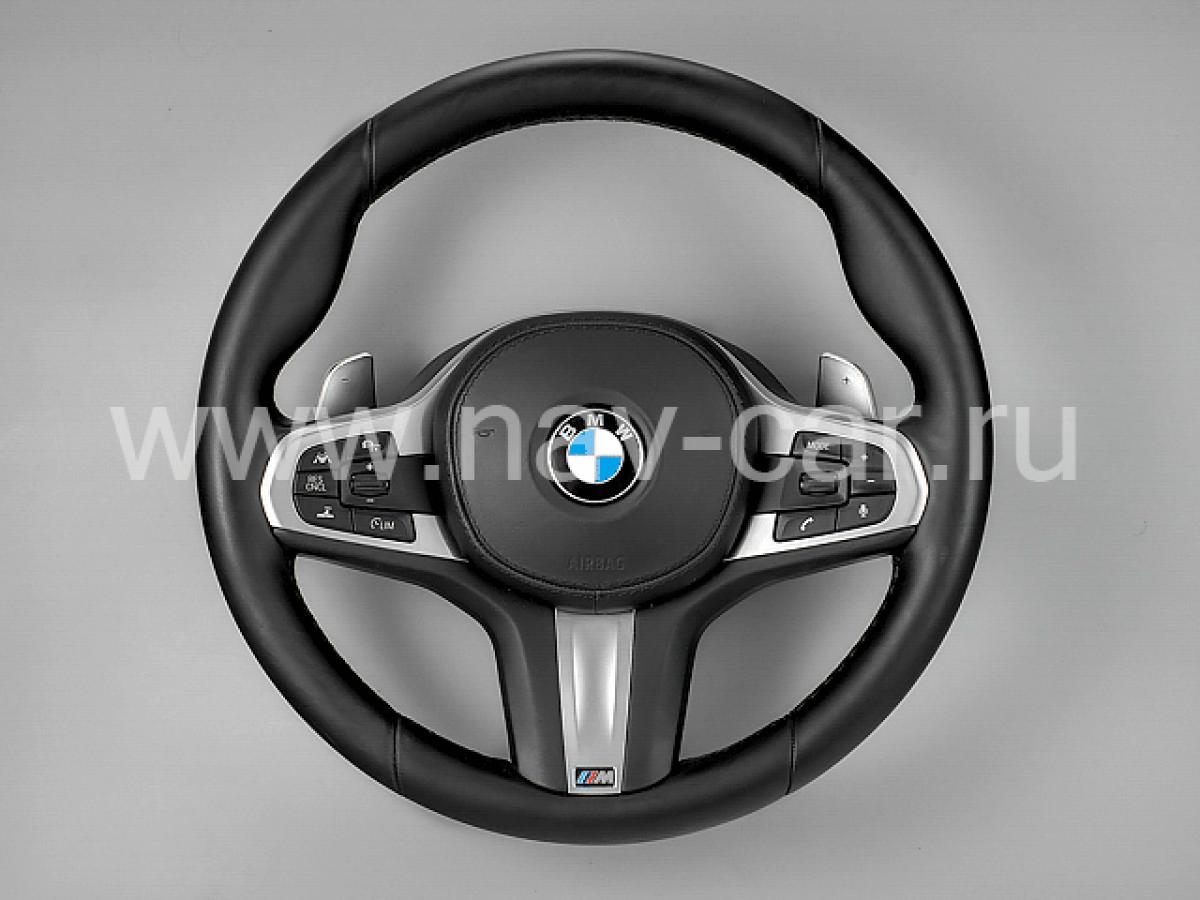 Спортивный M руль BMW G30 активный круиз с лепестками