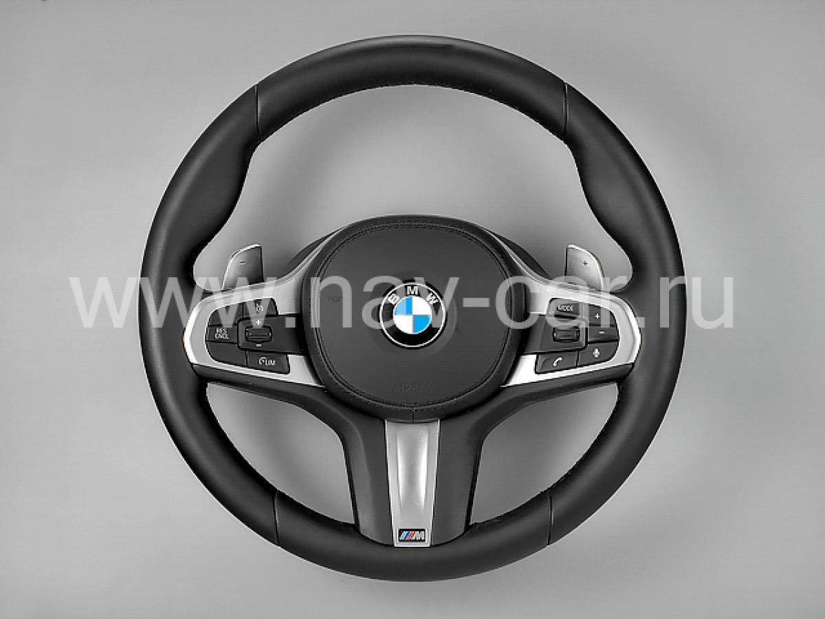 Спортивный M руль BMW G11 с лепестками
